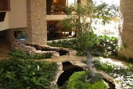 Indoor Rock Garden Massive Oak Brook Manse Has An Indoor Garden And Koi Stream