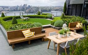 Rooftop Kitchen Garden Romantic Rooftop Garden Ideas With Flowering Potted Plants And