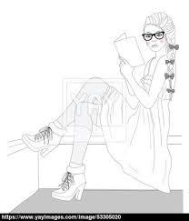 Young Fashion Girl Illustration Vector Illustration Background