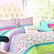 adorable girls teen kids twin comforter bedding set polka dot geometric look purple xl sham f anytime dot pinch pleat purple twin extra long comforter
