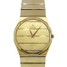 concord 14k yellow gold nine quartz watch concord watches