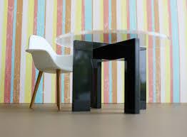 modern miniature furniture. Modern Minimalist Dining, Kitchen Table In Acrylic W/ Clear Top, Dollhouse Miniature Furniture R