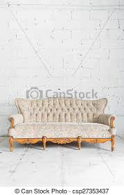 white vintage couch. Plain Vintage White Vintage Sofa Bed  Csp27353437 In Couch A
