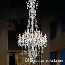 modern large chandelier long big chandelier led lamps modern large luxury crystal chandeliers villa hotel dining