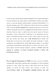 women empowerment essays for i e s ias phd mphil entrance exams 7 formulating the naunces of feminization of poverty