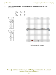 graphing linear equations in two variables worksheet them and try to solve