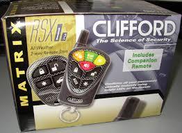 clifford matrix rsx 1 2 car remote start system clifford matrix rsx 1 2