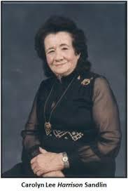 Carolyn Lee Harrison Sandlin (1917-2010) - Find A Grave Memorial