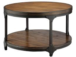 stunning round industrial coffee table industrial style round coffee table home design ideas