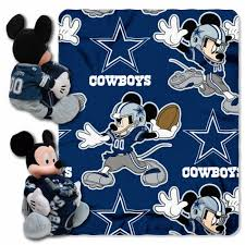 dallas cowboys nfl mickey hugger and throw