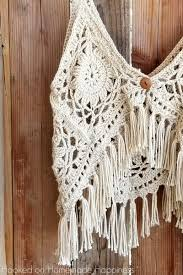 Crochet Tank Top Pattern Extraordinary Crochet Boho Tank Top Hooked On Homemade Happiness