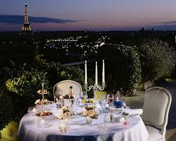 dining with eiffel tower view. dining in style: the belle etoile suite\u0027s roof terrace has views stretching from sacré coeur with eiffel tower view