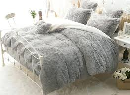 big fluffy comforter sets awesome solid gray and white color blocking fluffy 4 piece bedding sets grey bedding sets prepare home ideas tv