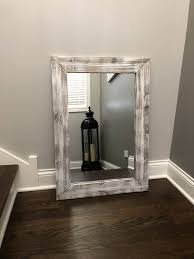 Mirror With Wood Frame Design Whitewash Mirror Wood Frame Mirror Rustic Wood Mirror Wood