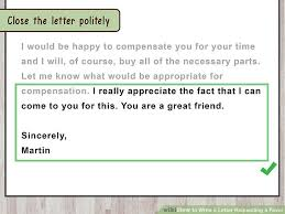 How To Write A Requirement Letter The Best Way To Write A Letter Requesting A Favor With Sample