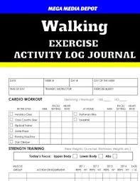 walking journal walking exercise activity log journal by mega media depot paperback