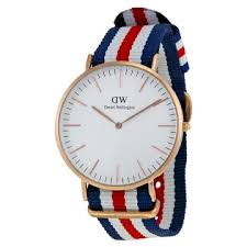 men s watches daniel wellington classic canterbury eggshell daniel wellington classic canterbury eggshell white dial striped nylon men s watch 0102dw