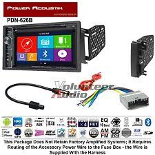 dodge challenger navigation power acoustik double din dvd navigation bluetooth radio install kit harness nav fits dodge
