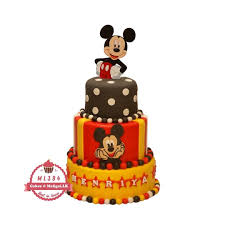 three tiered mickey mouse cake cake
