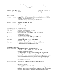 6 Resume Format For Pharmacy Student Inventory Count Sheet