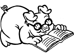 pig which reads a book coloring pig which reads a book picture on coloring book pig