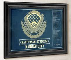 Royals Stadium Seating Chart Kansas City Royals Kauffman Stadium Seating Chart Vintage Baseball Fan Print