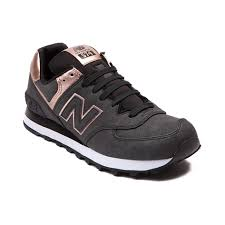 new balance rose gold. shop for womens new balance 574 athletic shoe in charcoal rose gold at journeys shoes.