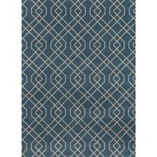 modern trellis design blue 9 ft x 12 ft area rug
