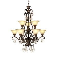 artcraft lighting 9 light florence chandelier
