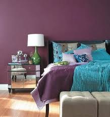 Green And Purple Room Decorating The Bedroom With Green Blue And Purple