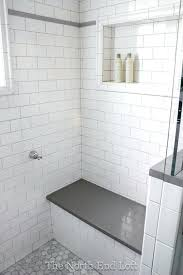 light gray grout we chose shiny white subway tile with light gray grout for the walls light gray grout light gray subway tile
