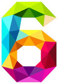 Colourful Triangles Number Six PNG Clipart Image | Gallery Yopriceville -  High-Quality Images and Transparent PNG Free Clipart