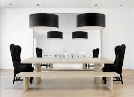 fascinating black drum shade classic dining room and four chandelier