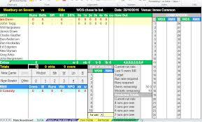 Cricket Score Sheet 20 Overs Excel Excel Scorebook Integration Optional Build Your Own