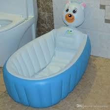 retail inflatable baby bathtub newborns bathing tub eco friendly portable infant bath basin 95 60 30cm children gifts wd212 baby bathtub portable