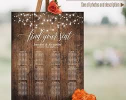 Sunflower Wedding Seating Chart Rustic Wedding Seating Chart