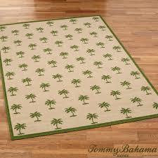 groovy palms rectangle rug beige