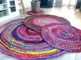 round rag rug cotton multi coloured various sizes rugs for turquoise green hand dyed good