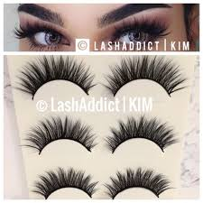 3 pairs mink lashes eyelashes 3d wsp natural fur makeup new us