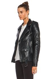 image 3 of blk dnm leather jacket 8 in emerald blue