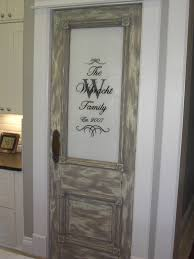 rustic brown frosted glass pantry door in gray