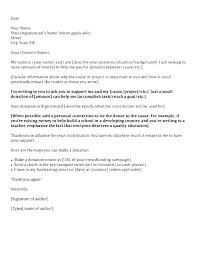 Solicitation Latter Donation Fundraising Solicitation Letter Template Sample