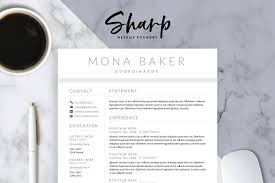 Marketing Resume Template Beauteous Resume Templates Creative Market