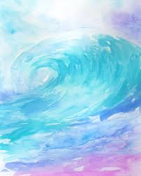 INSTANT DOWNLOAD, Wave Print, Nursery Wall Art, Wave Art, Ombre Wave, Beach  Vibes, Wave Decal, Wave Painting, Watercolor Wave, Surf Nursery
