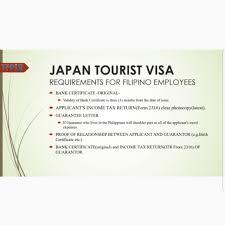 Japan Visa Application Non Appearance Tickets Vouchers