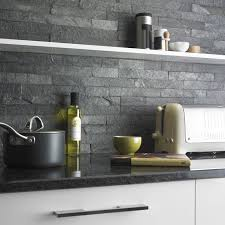Modern Kitchen Stone Wall Tiles Silver Grey Split Face Are Created From On Creativity Design