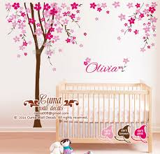 home decorating images nursery wall decal cherry blossom tree with baby name decal office wall decals nursery wall decal wallpaper and background photos
