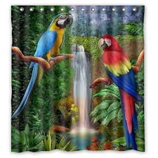 parrot shower curtain amazing decoration 10