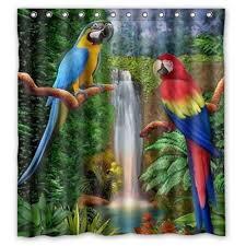parrot shower curtain amazing decoration 10