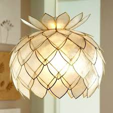 Astounding Ceiling Lamp Shades Transparent Plastic Half Pineapple ...